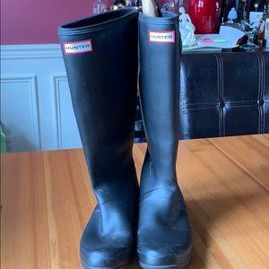 Hunter Rubber Boots Black